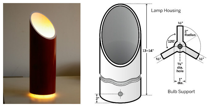 handcrafted PVC pipel floating accent table lamp
