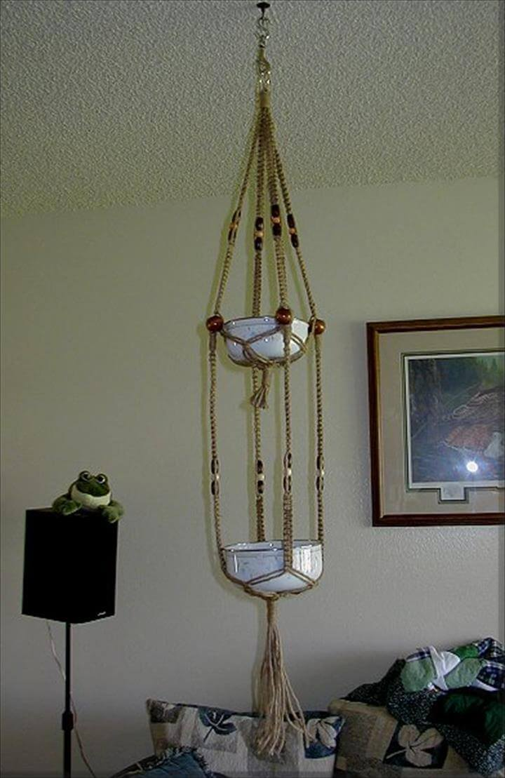 macrame plant hangers diy 25 diy plant hangers with tutorials diy crafts 4538