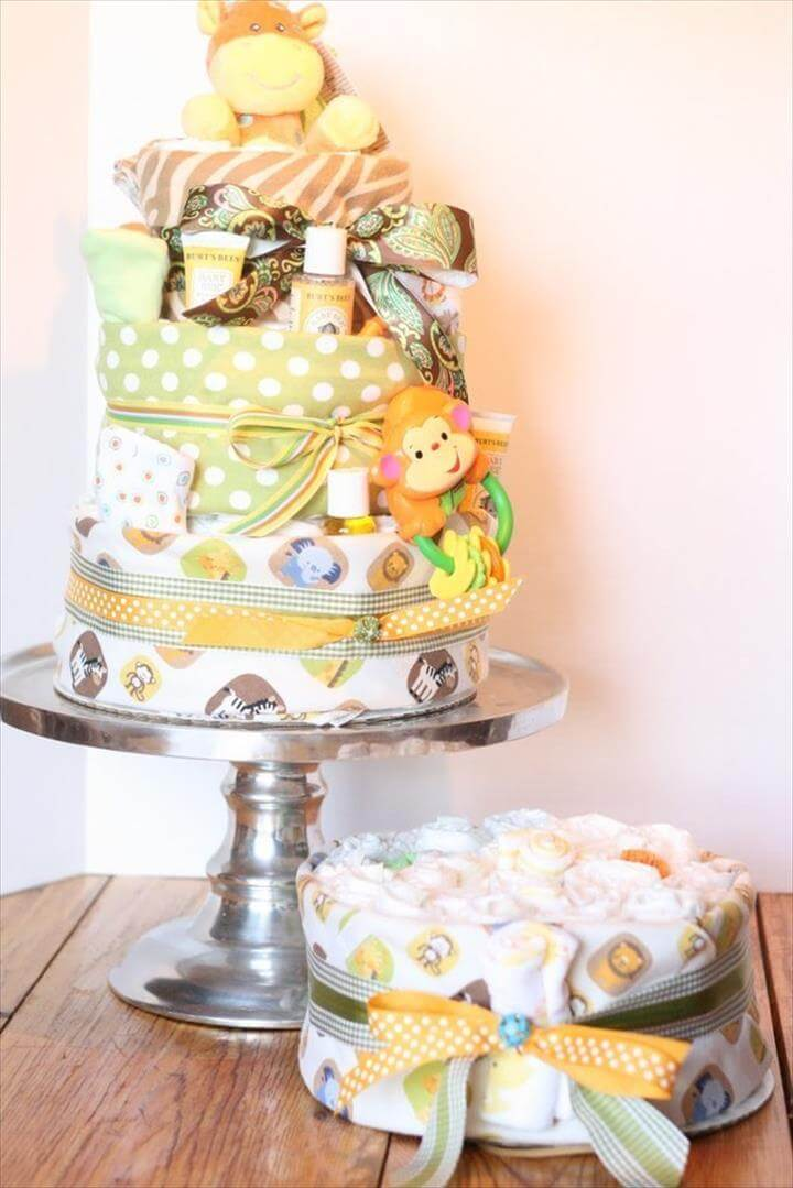 cool baby shower diaper cake