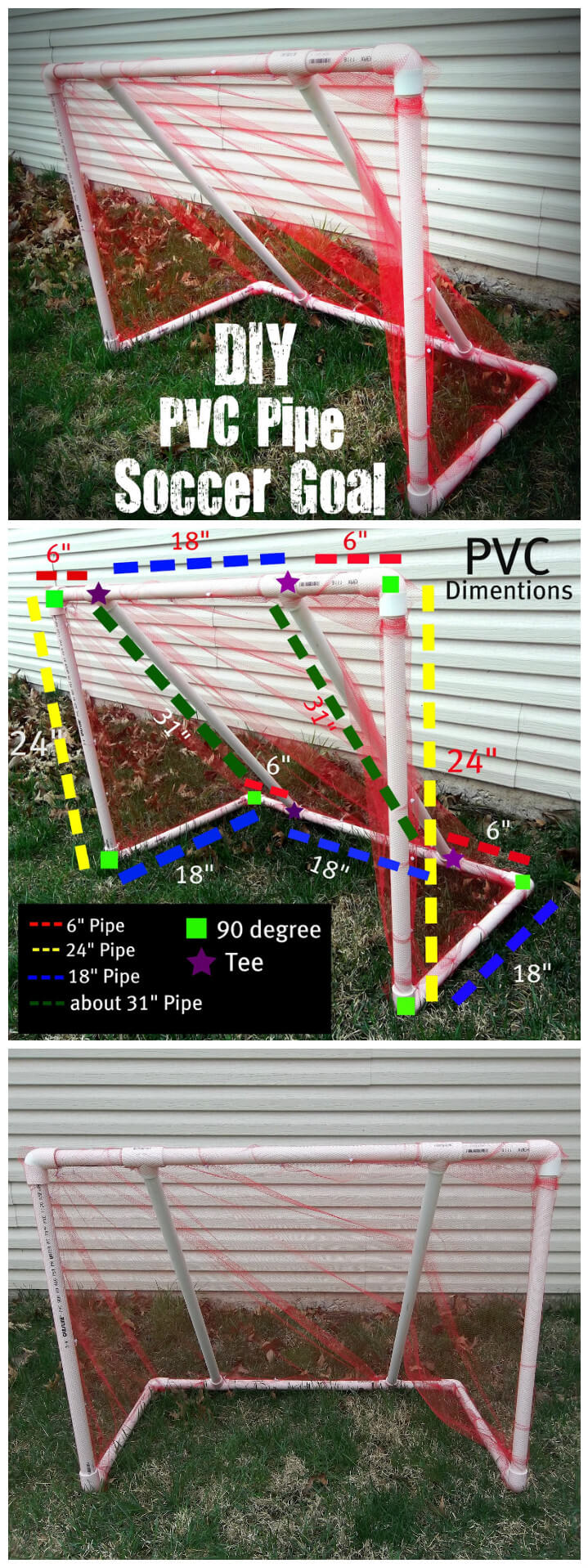 upcycled PVC pipe soccer goal tutorial