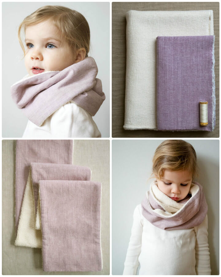 DIY cozy sewn cowl for kids