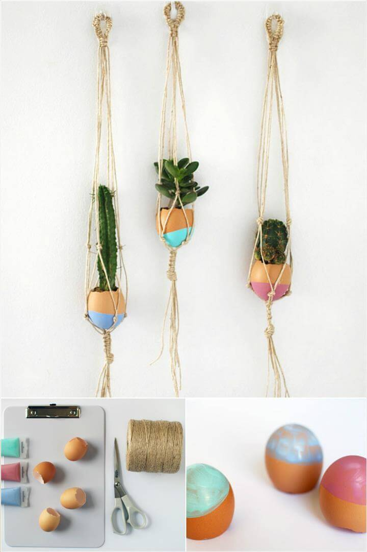 Mini Macrame Plant Hanger - Hitch + Cord