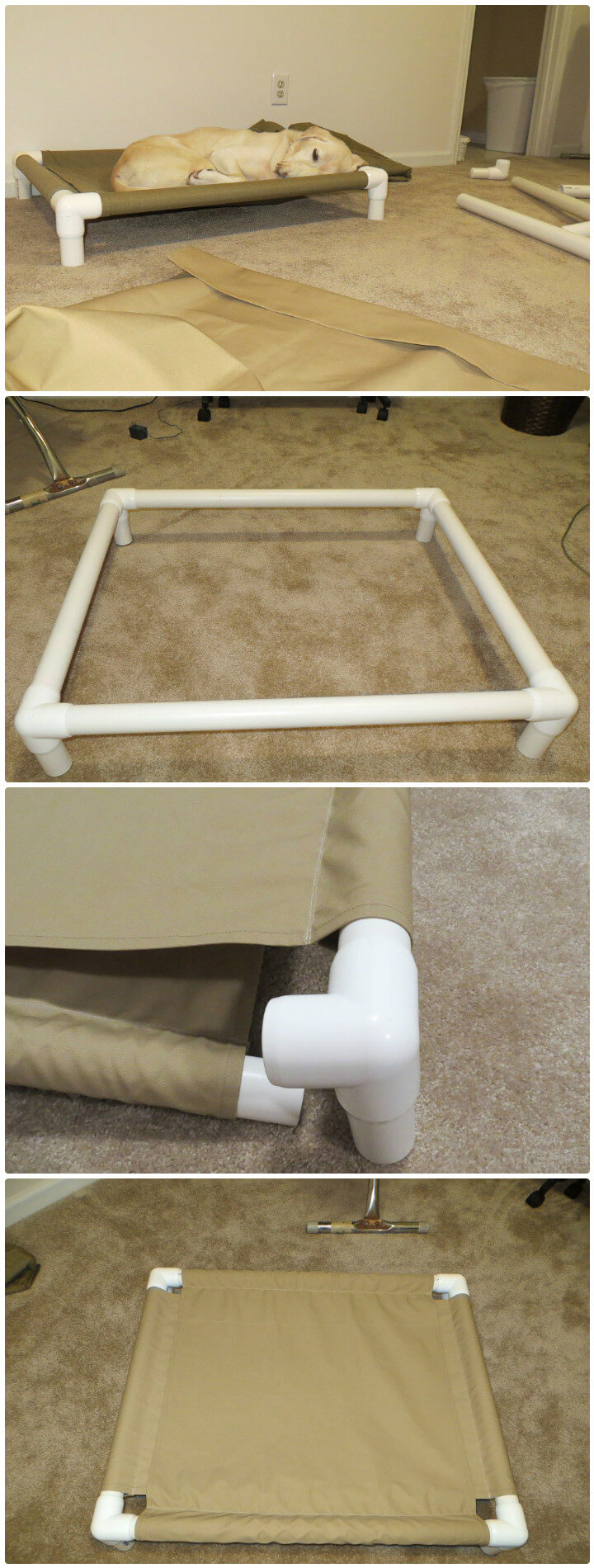 recycled PVC pipe dog cot