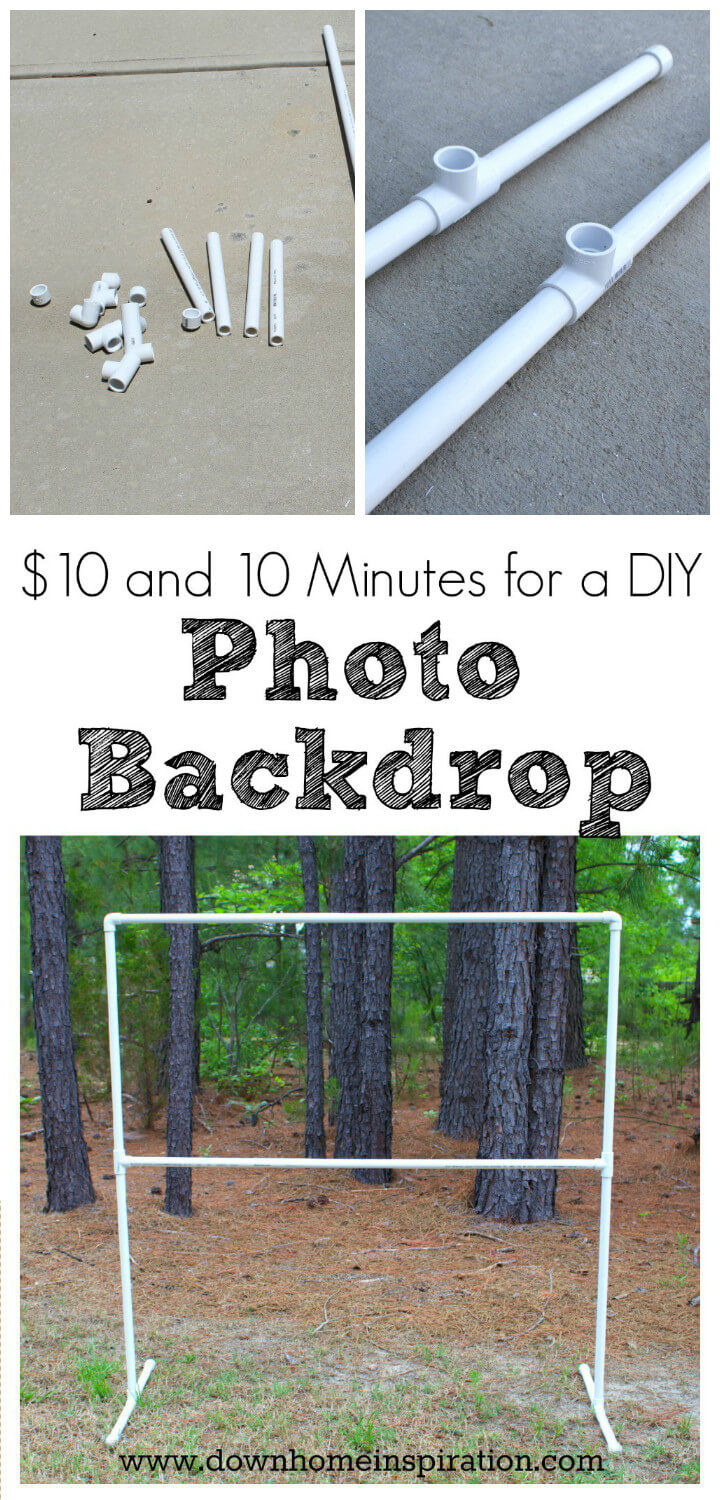easy to make PVC pipe photo backdrop