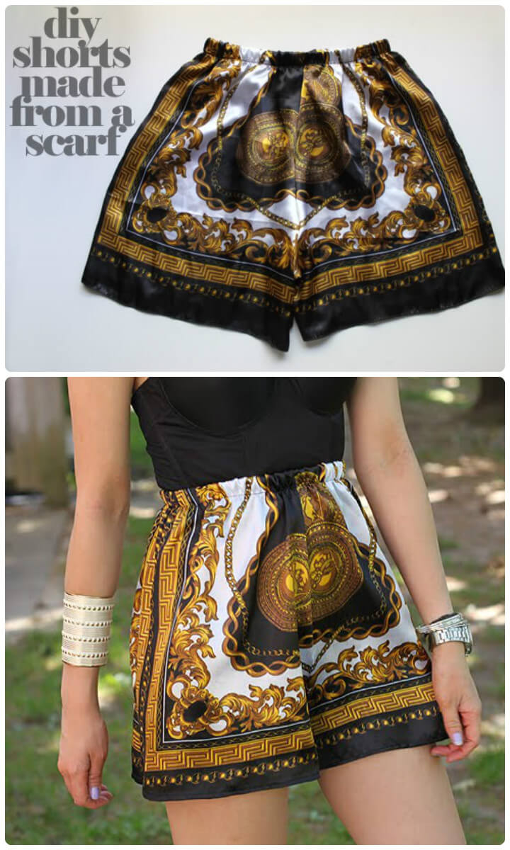 beautiful scarf shorts