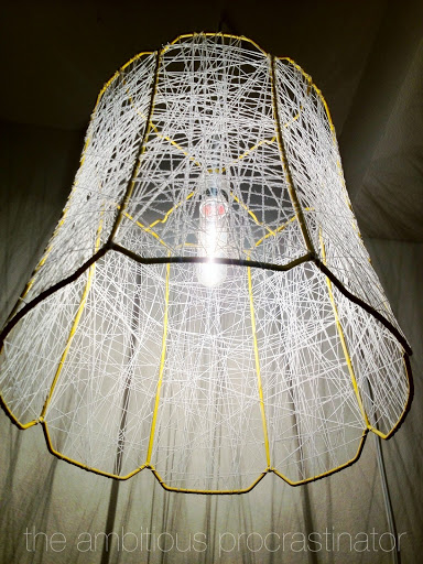 how to make a string lampshade
