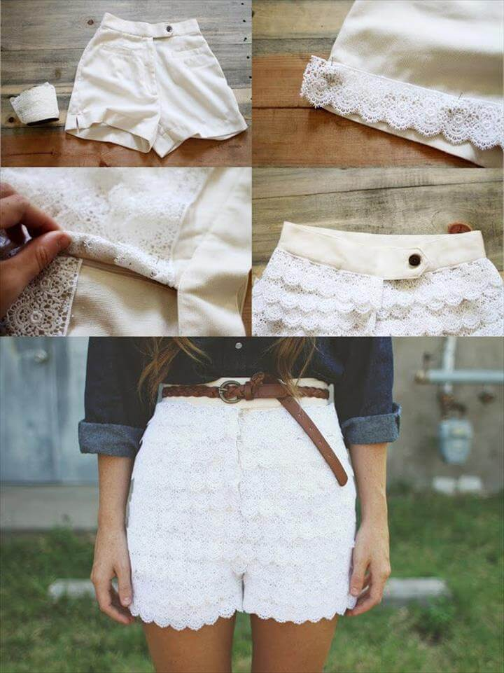 cool summer lace shorts