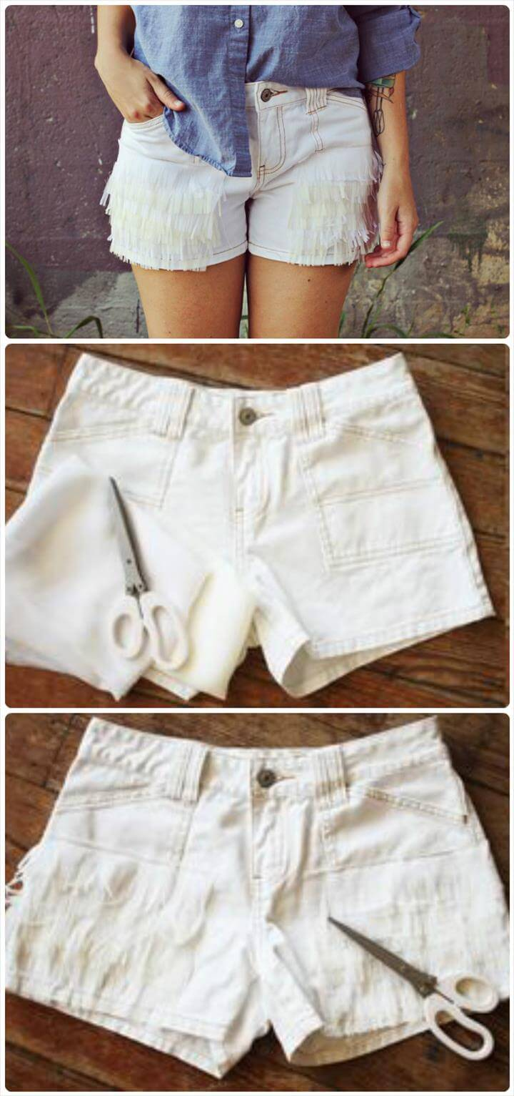 DIY textured summer shorts tutorial