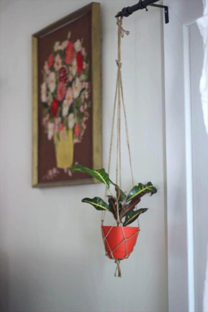 Large Macrame Pot Hanger