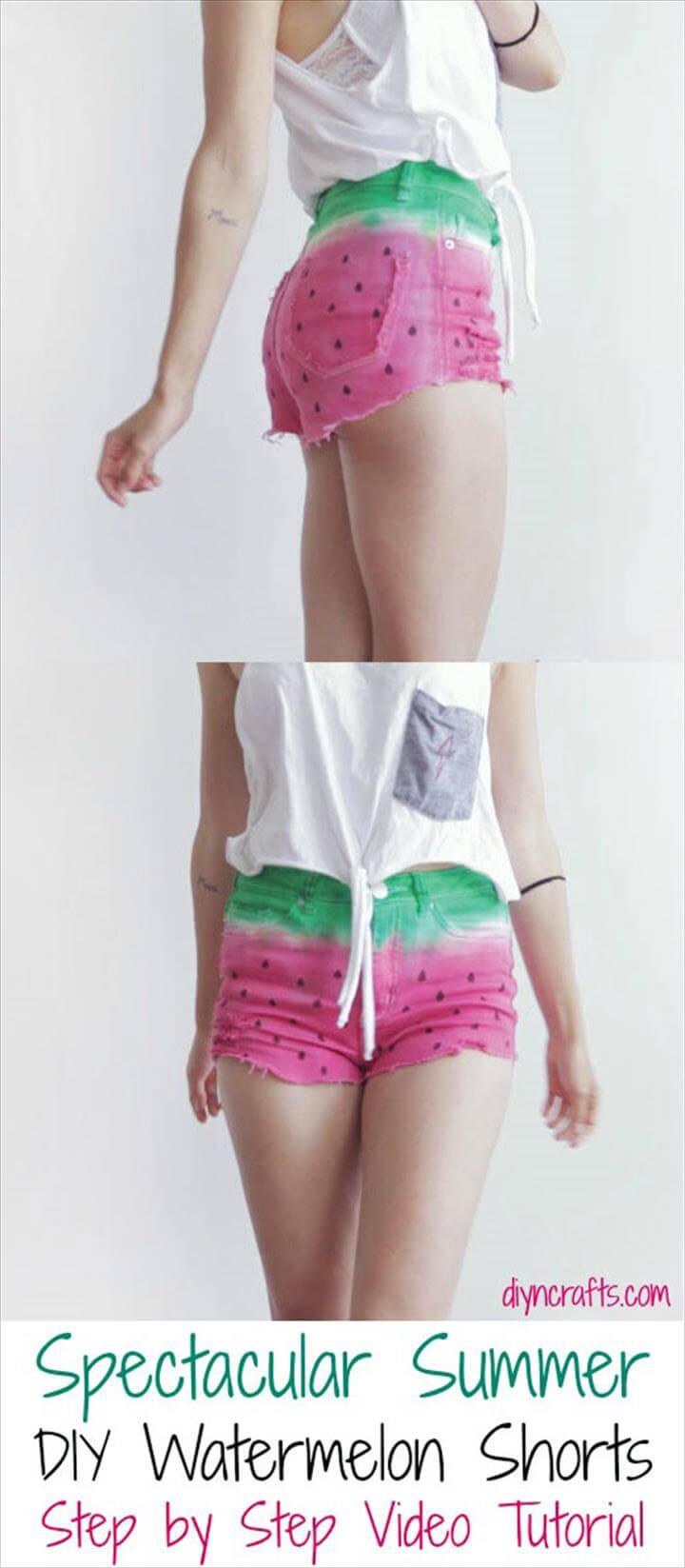 DIY water melon summer short pattern