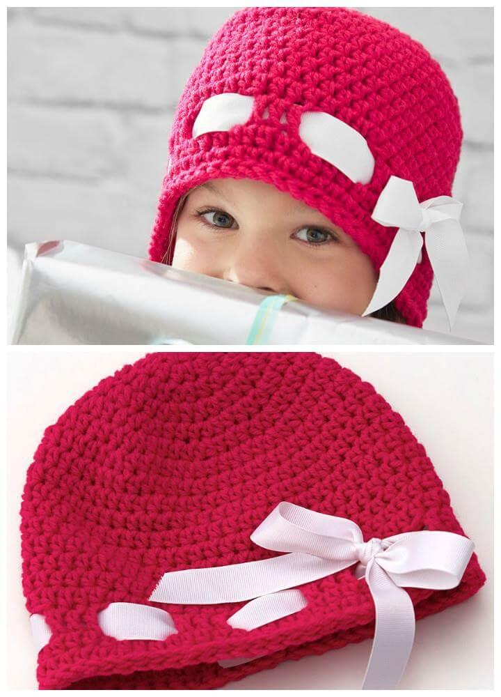 easy crochet baby hat pattern