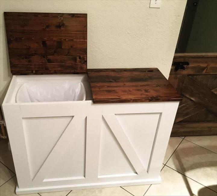 handmade kitchen composite bin
