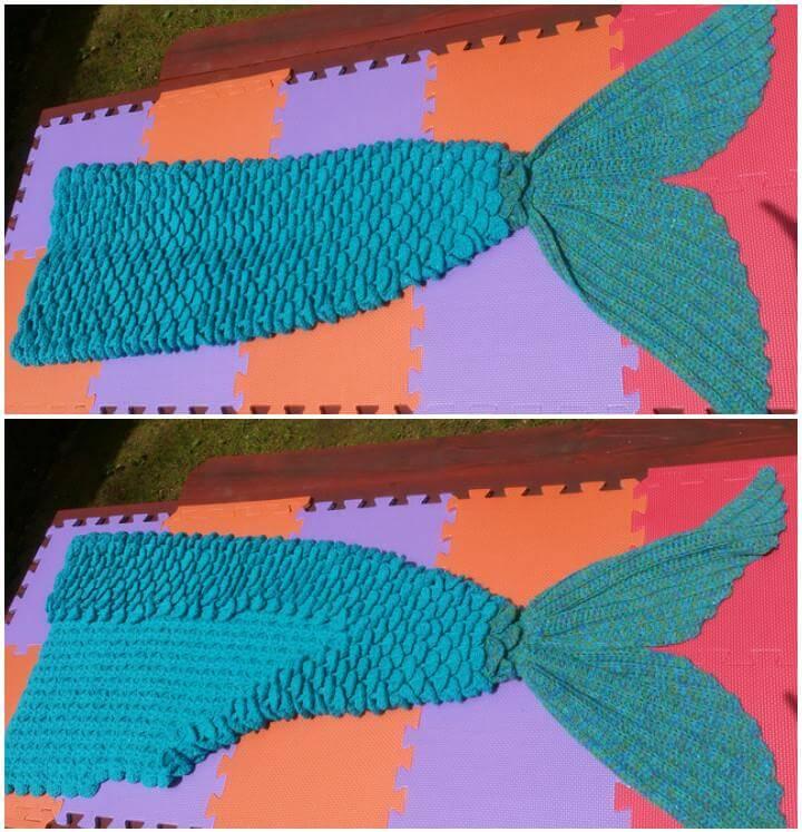 free mermaid lap blanket pattern
