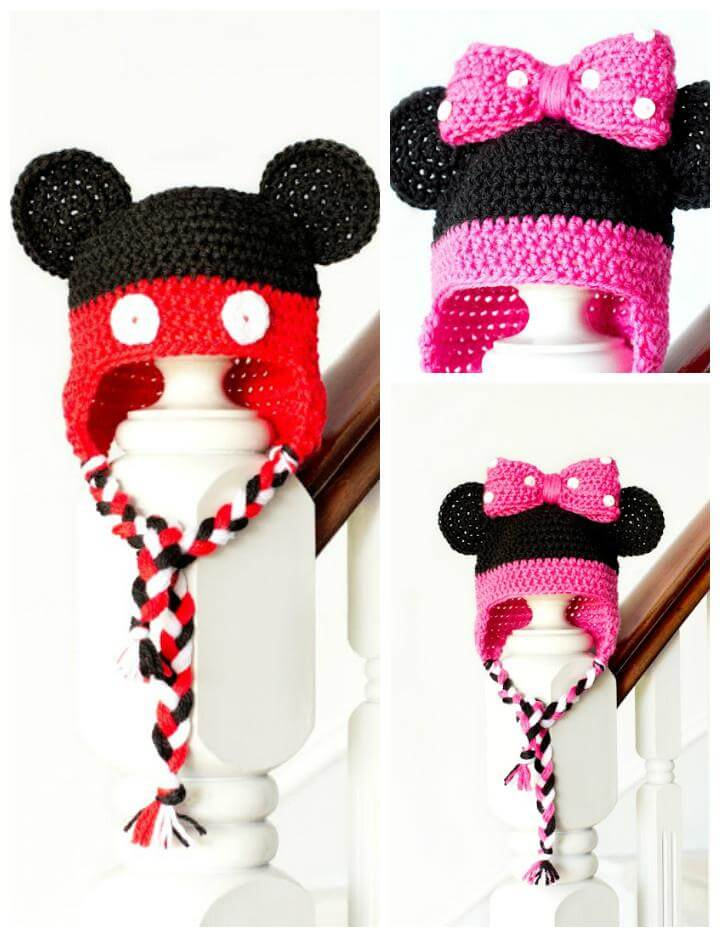 Minnie Mouse Crochet Baby Hat Pattern : 50 Free Adorable Baby Crochet Hat Patterns - Page 2 of 5 ...