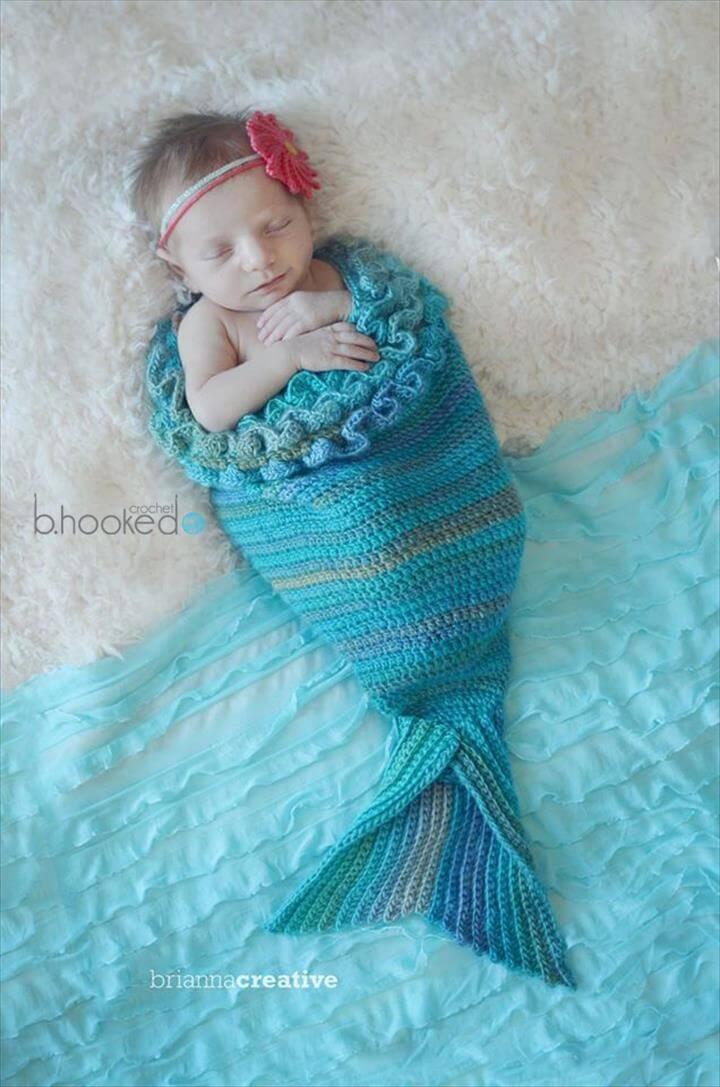 mermaid cocoon free crochet pattern