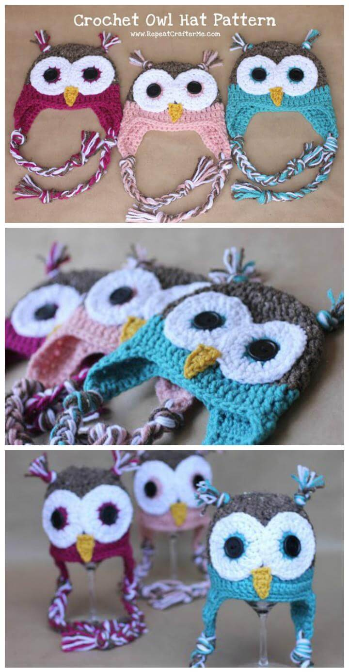 Free Crochet Owl Hat And Diaper Cover Pattern : 50 Free Adorable Baby Crochet Hat Patterns - DIY & Crafts