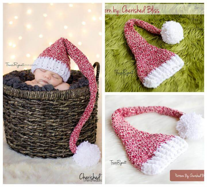 Crochet Newborn Stocking Hat Pattern : 50 Free Adorable Baby Crochet Hat Patterns - DIY & Crafts