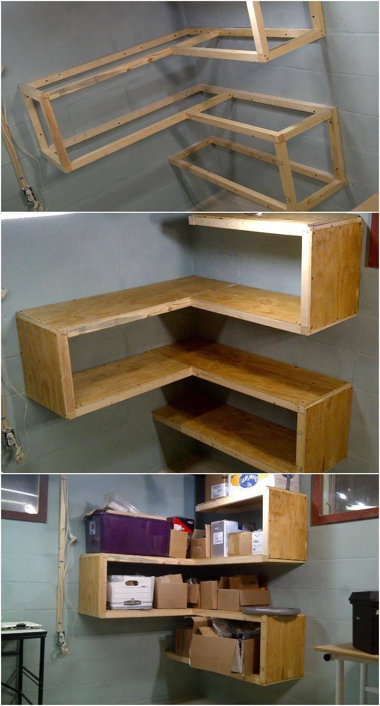 50 diy shelves build your own shelves diy crafts. Black Bedroom Furniture Sets. Home Design Ideas
