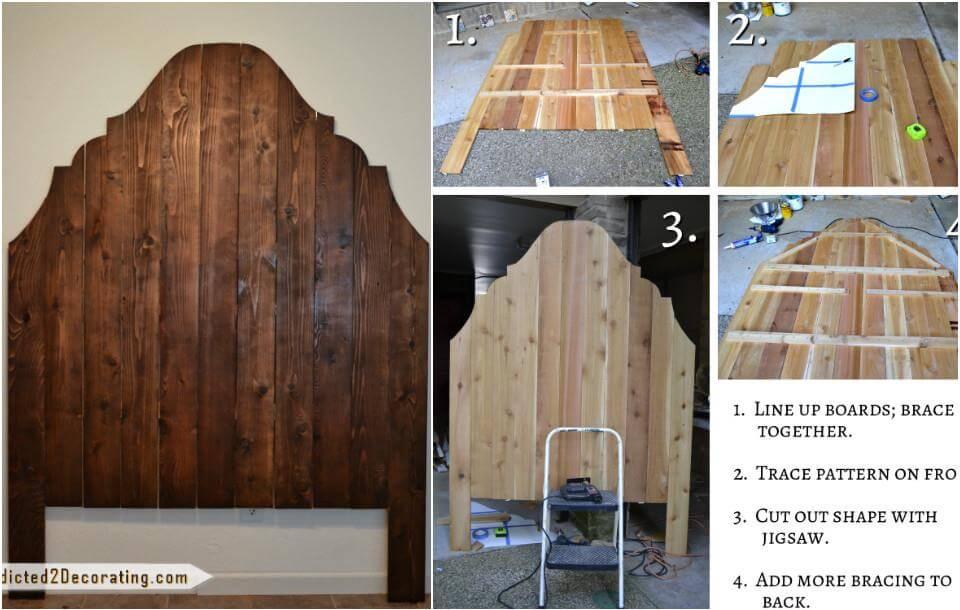 reclaimed cedar fence pickets headboard