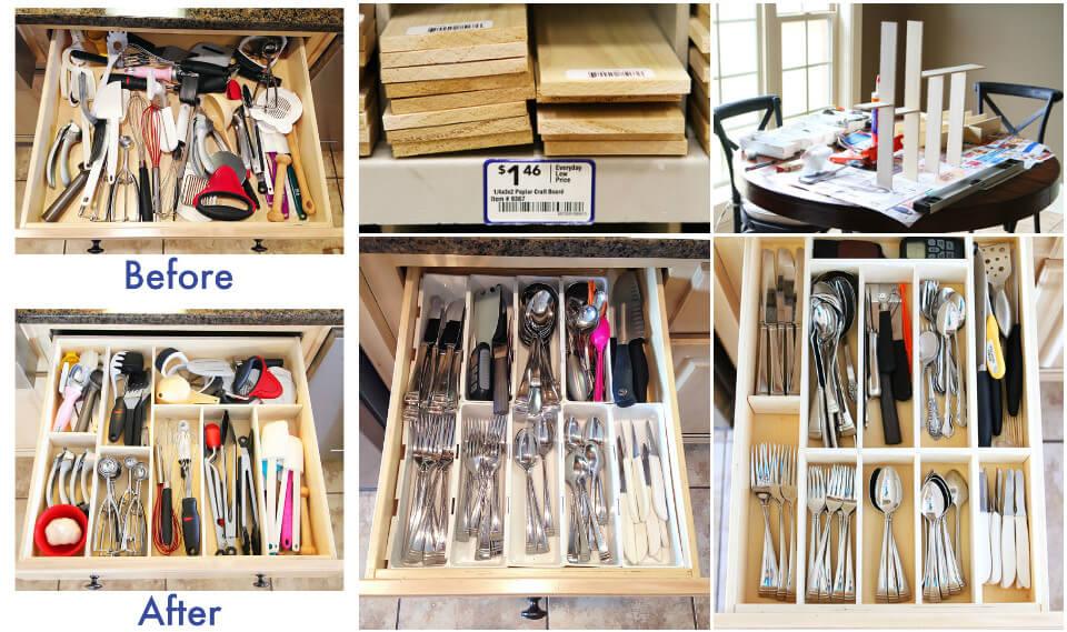 easy kitchen drawer utensil organizer