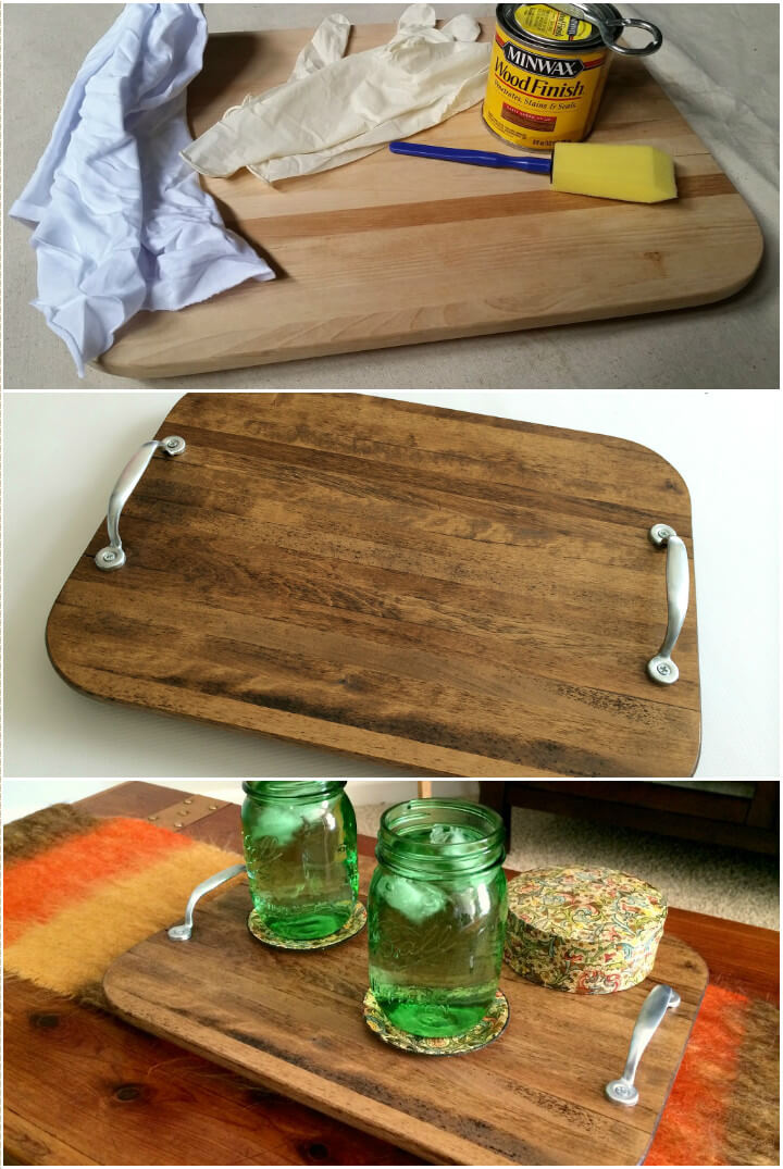 hand-built farmhouse style serving tray