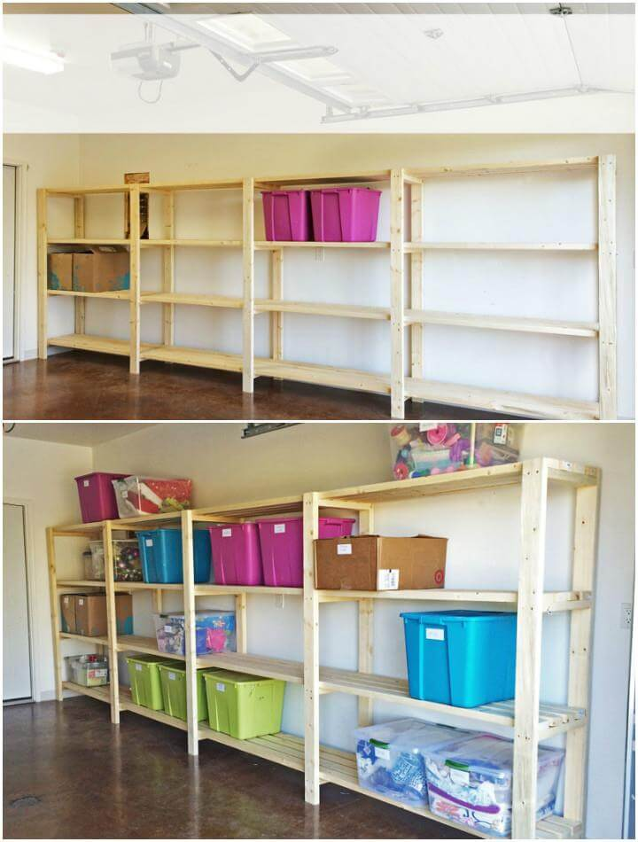 50 diy shelves build your own shelves diy crafts for Build your garage online