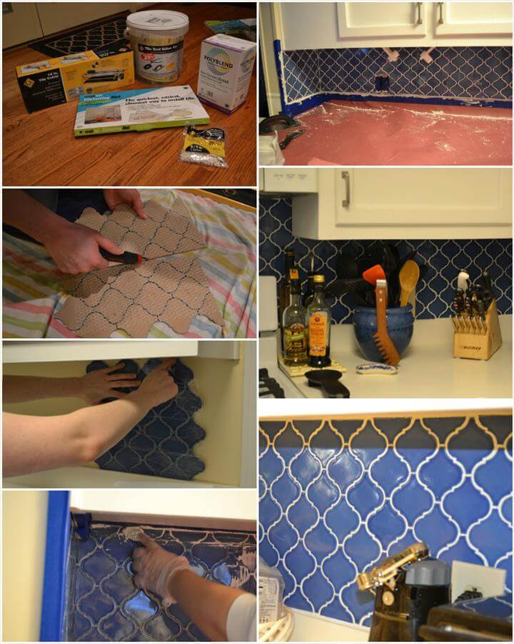 self-installed kitchen jumpin backsplash