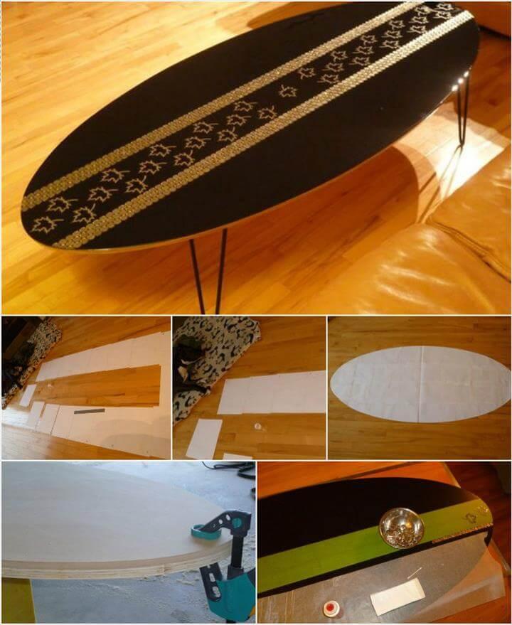 handmade oval coffee table with metal hairpin legs