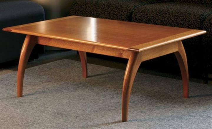 modern mahogany coffee table free plan