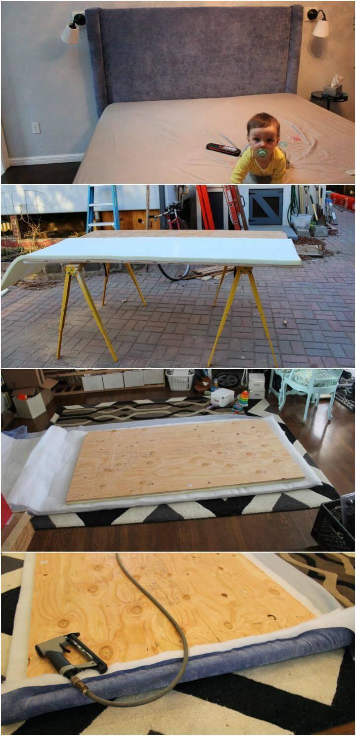 self-installed padded headboard