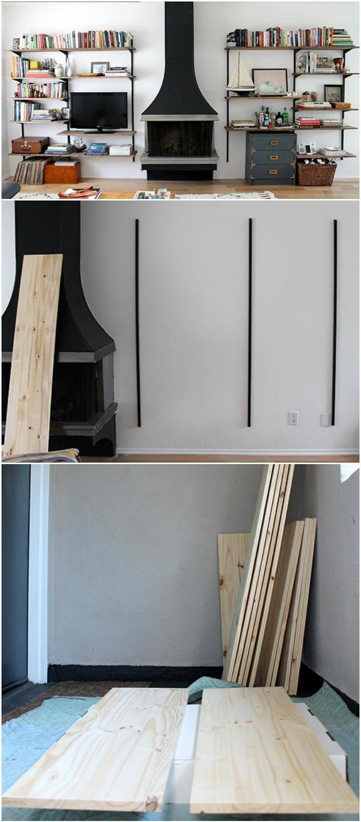 50 diy shelves build your own shelves diy crafts for Diy shelving unit