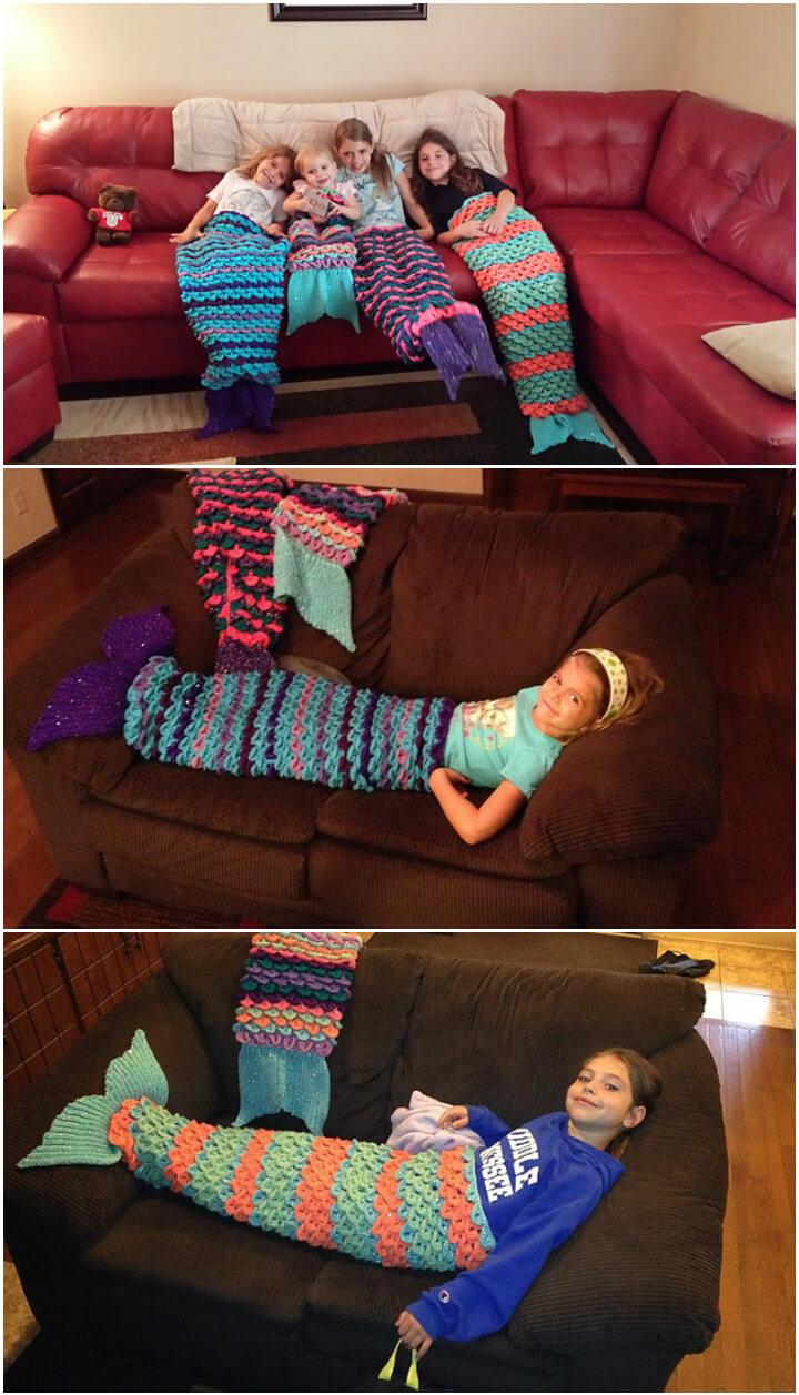 crochet mermaid tail blanket pattern free