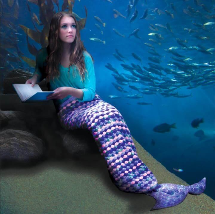 mermaid tail crochet afghan free pattern