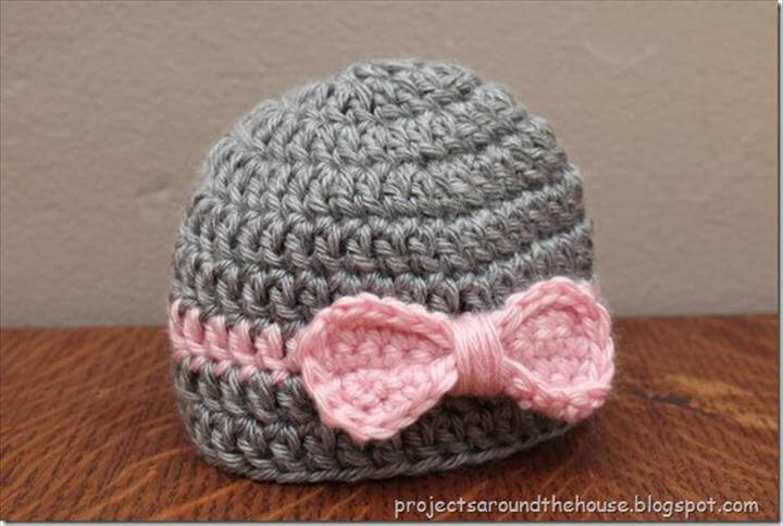 Free Crochet Hat Pattern With Bow : 50 Free Adorable Baby Crochet Hat Patterns - Page 3 of 5 ...