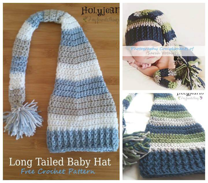 Crochet Baby Long Tail Hat Pattern Pakbit For