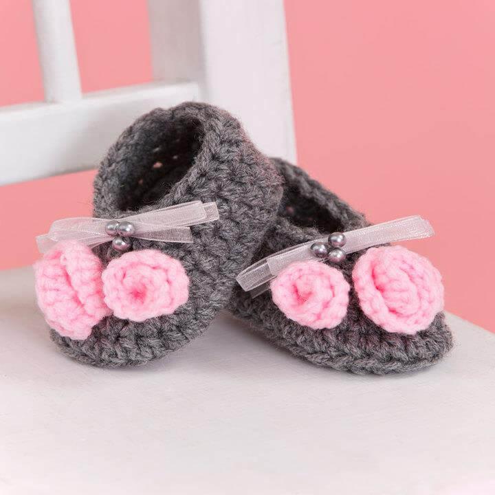 lovely crochet little miss booties