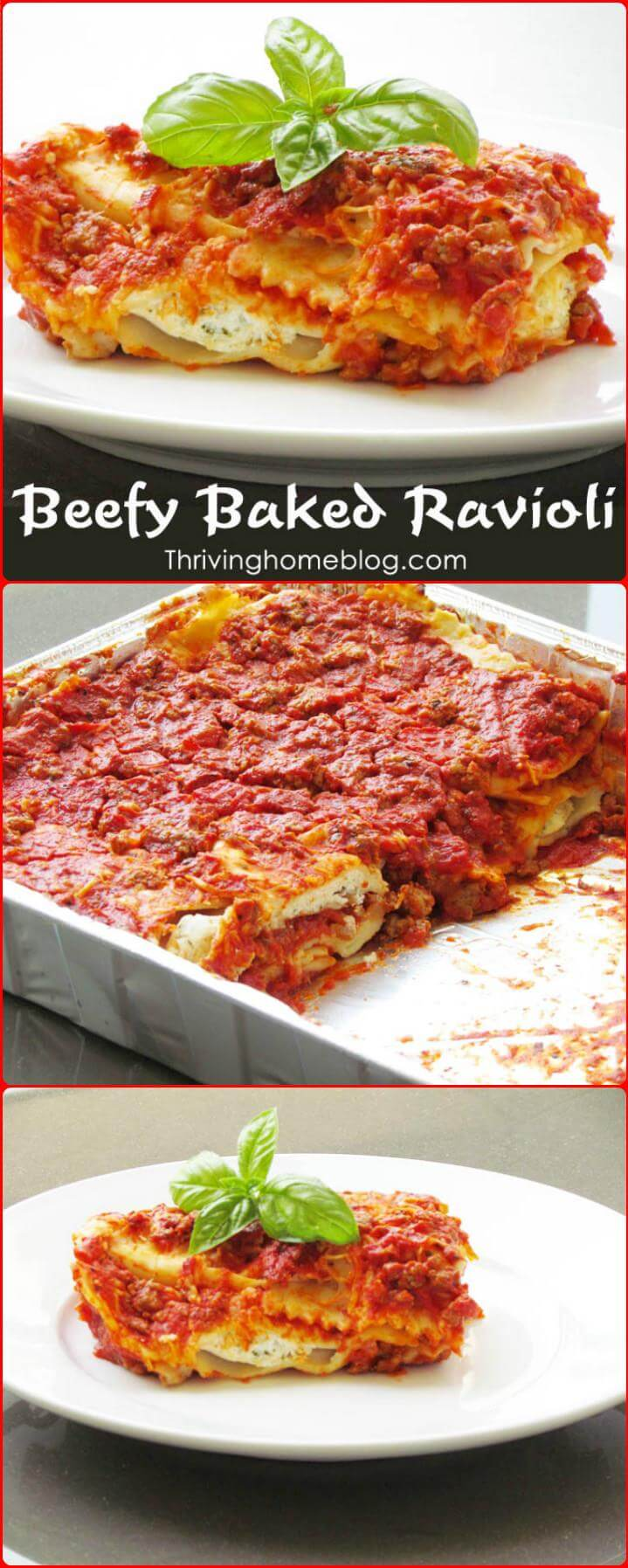 delicious beefy baked ravioli
