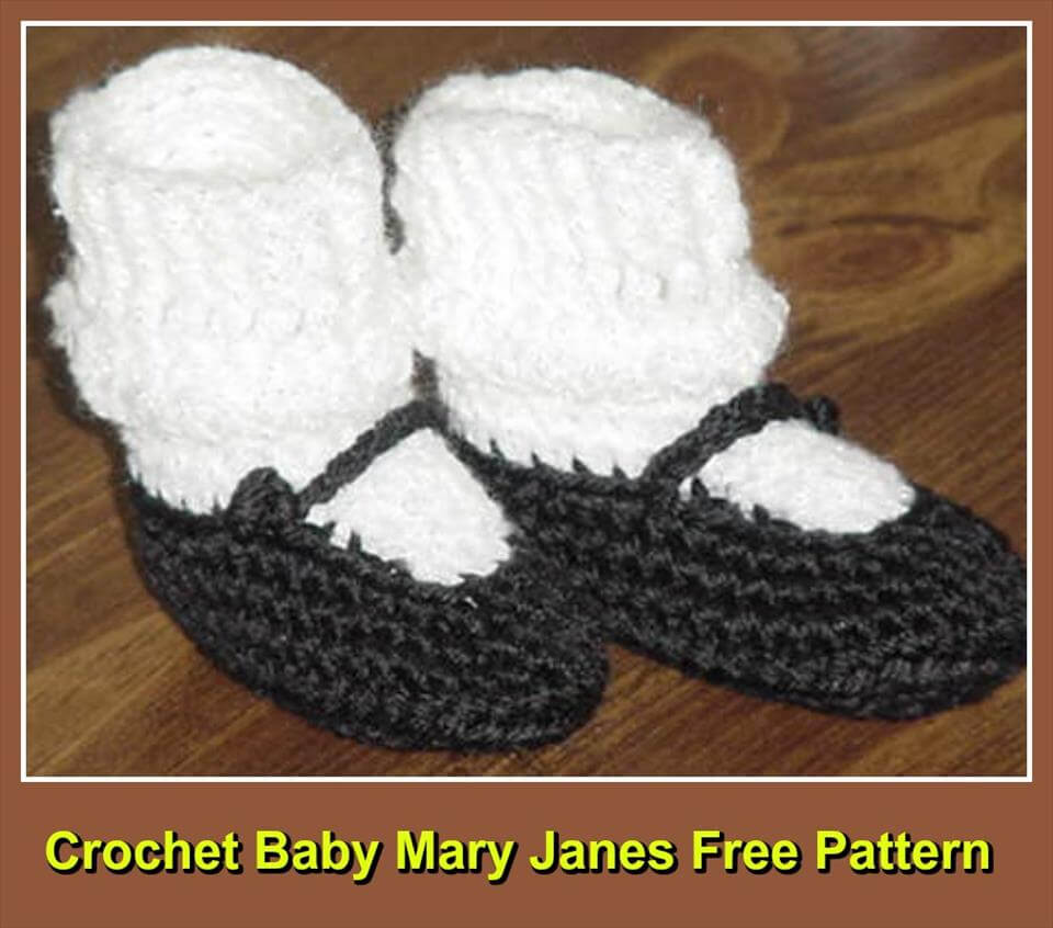 free crochet baby Mary Janes pattern