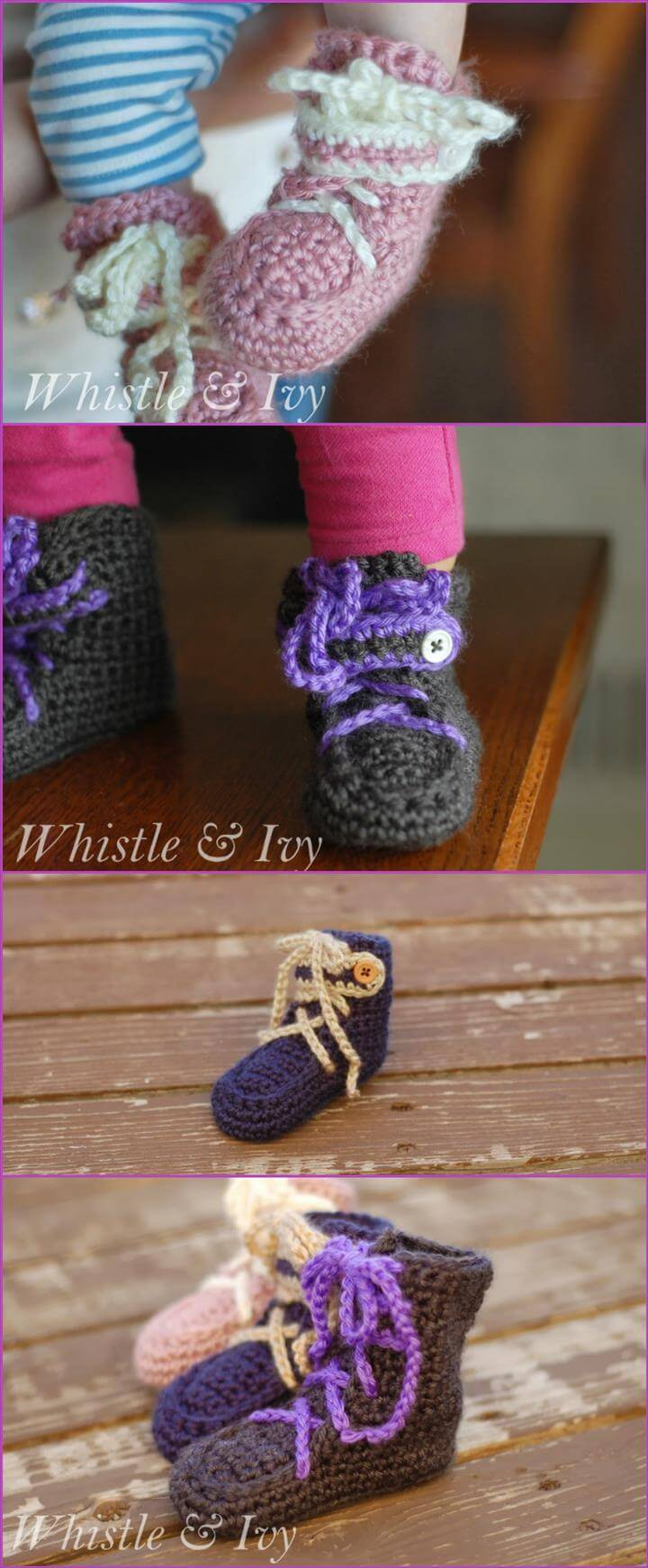free crochet baby moccasin booties pattern