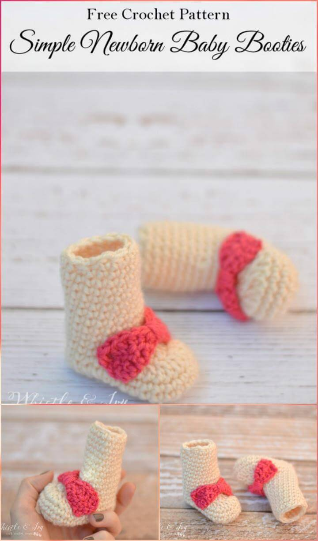 free crochet newborn baby booties