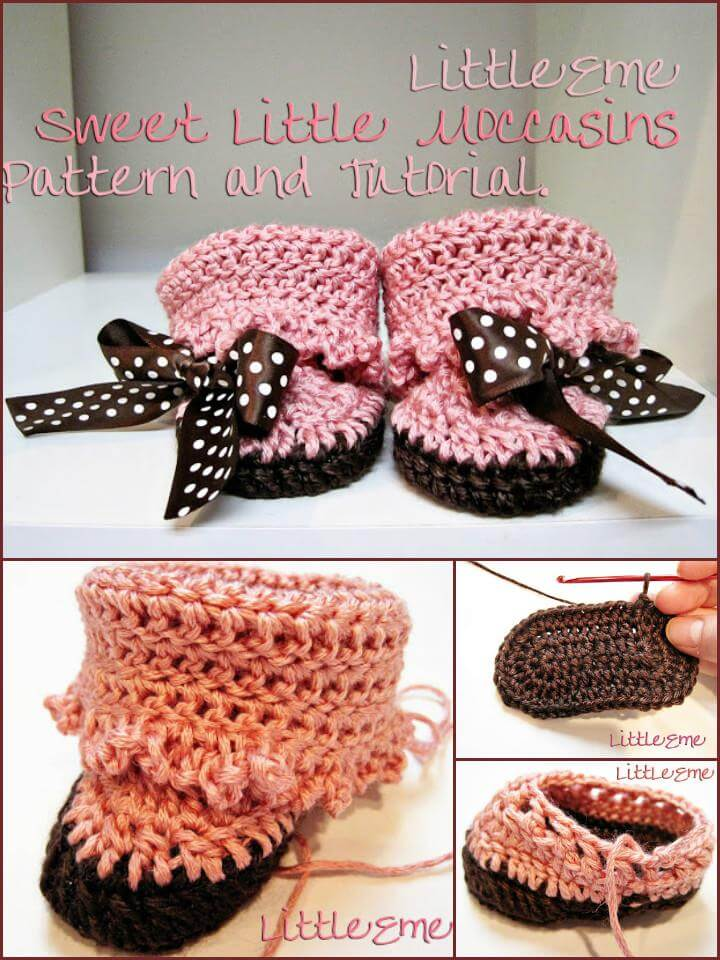 free crochet little moccasins patter