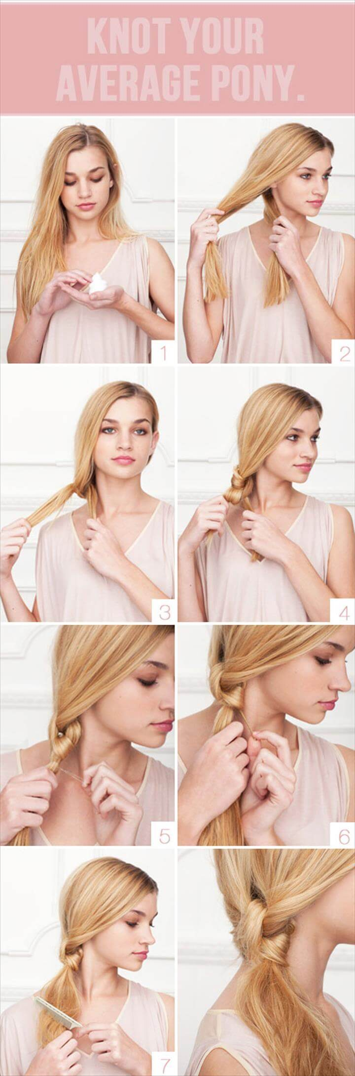 cute average pony knot hairstyle