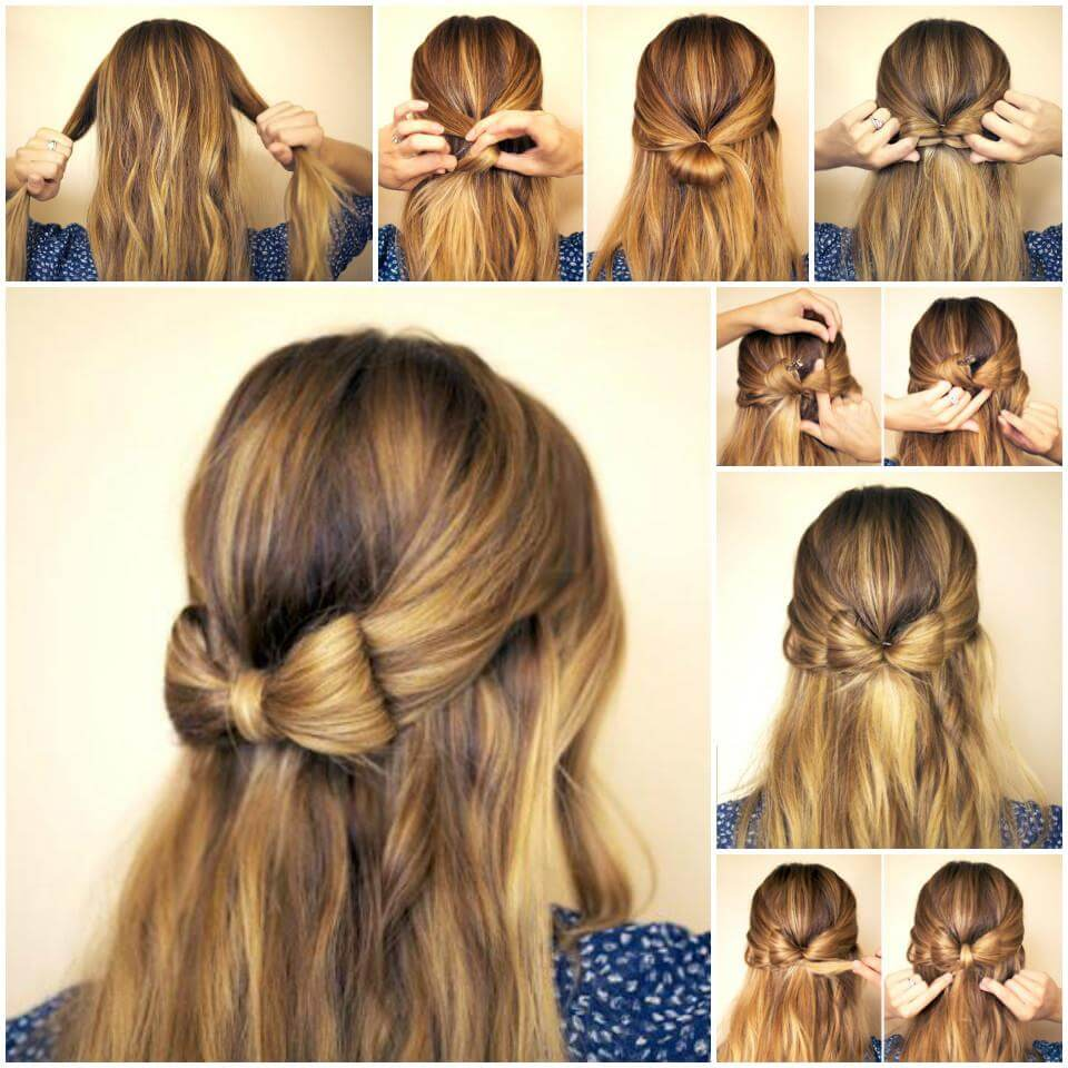 DIY bow hairstyle tutorial