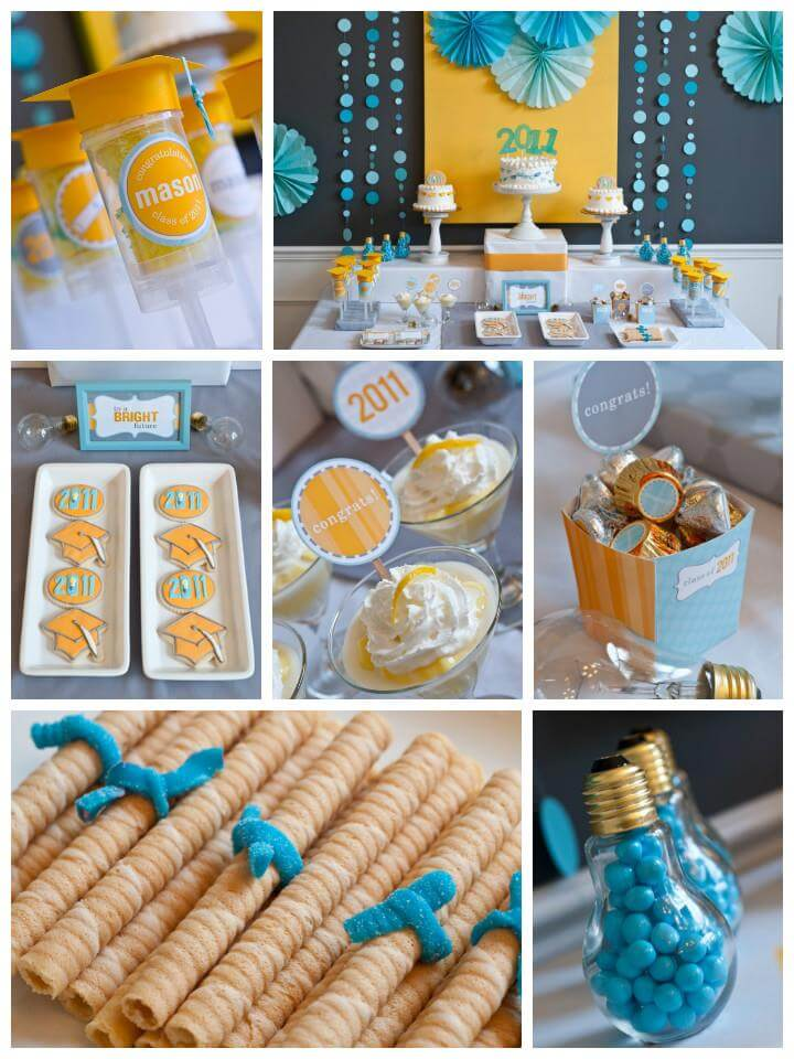 beautiful bright future graduation party theme