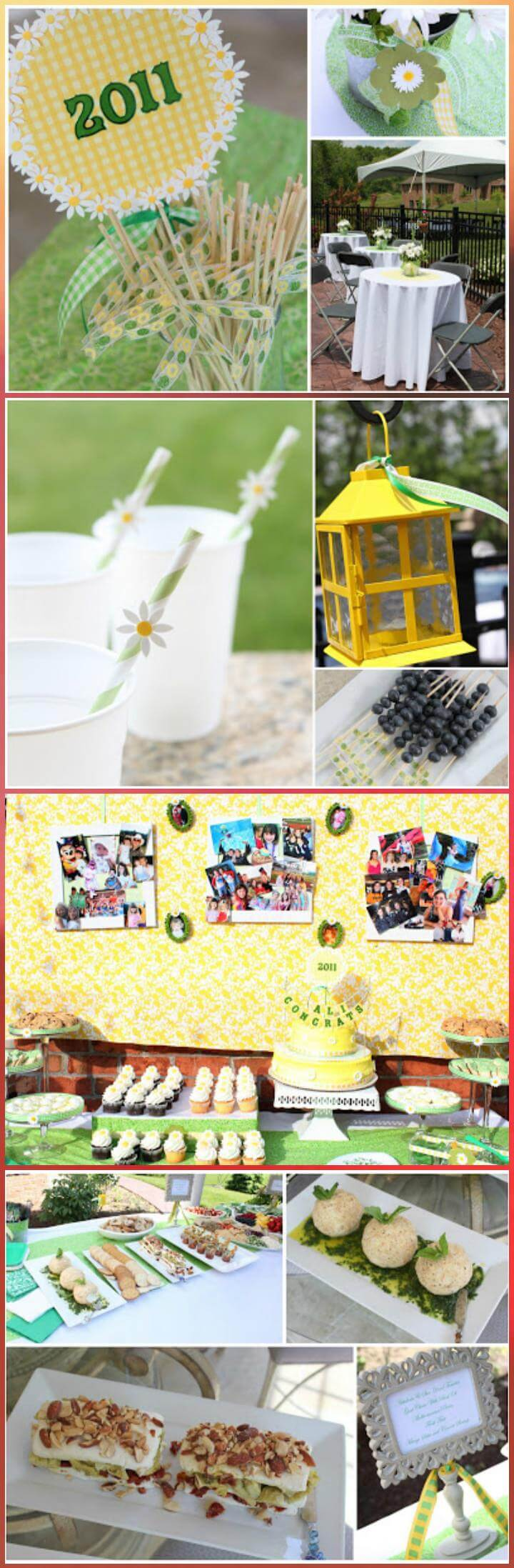 perfect daisy graduation party decor theme