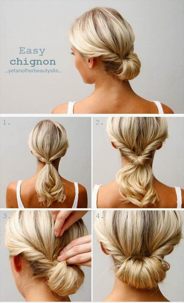 easy updo braid hairstyle