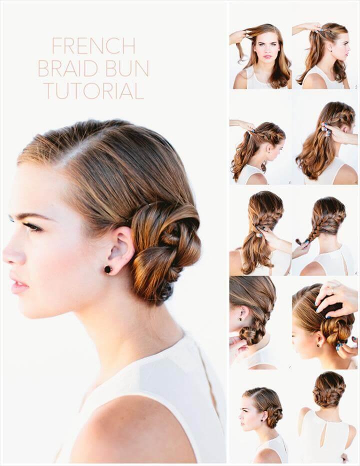 stylish french brain bun