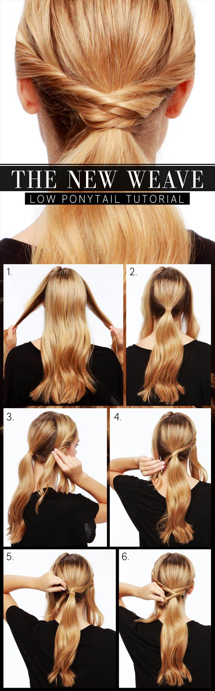 stylish new weave low ponytail hairstyle