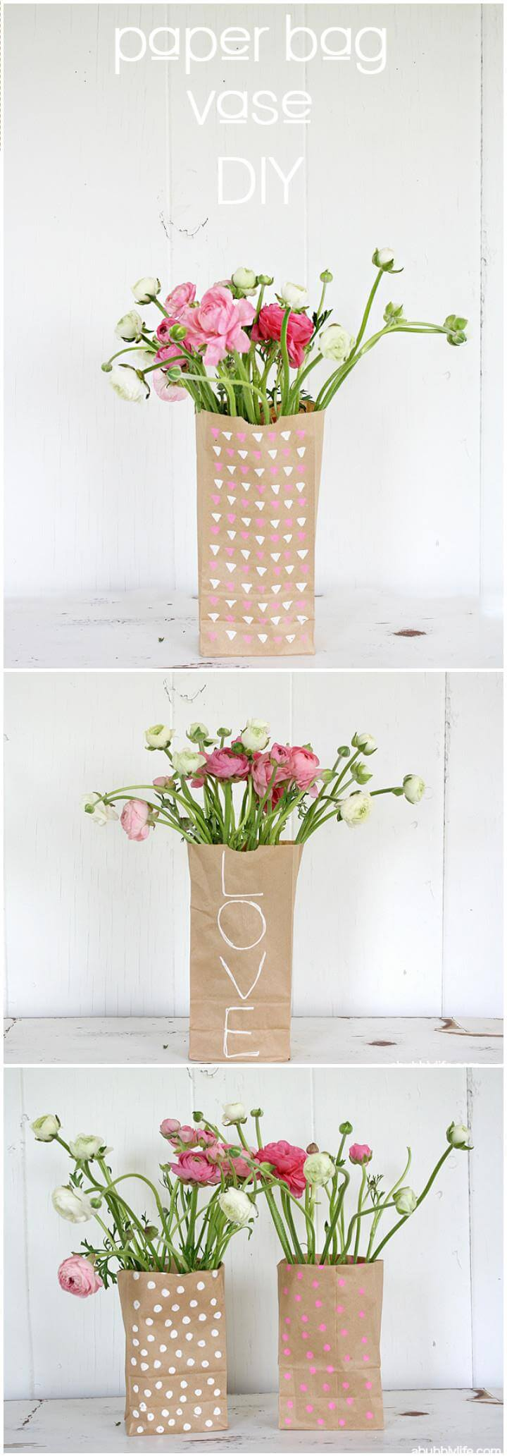 Diy paper bag vase crafthubs 100 diy vases or centerpiece unique ways to diy your floridaeventfo Gallery