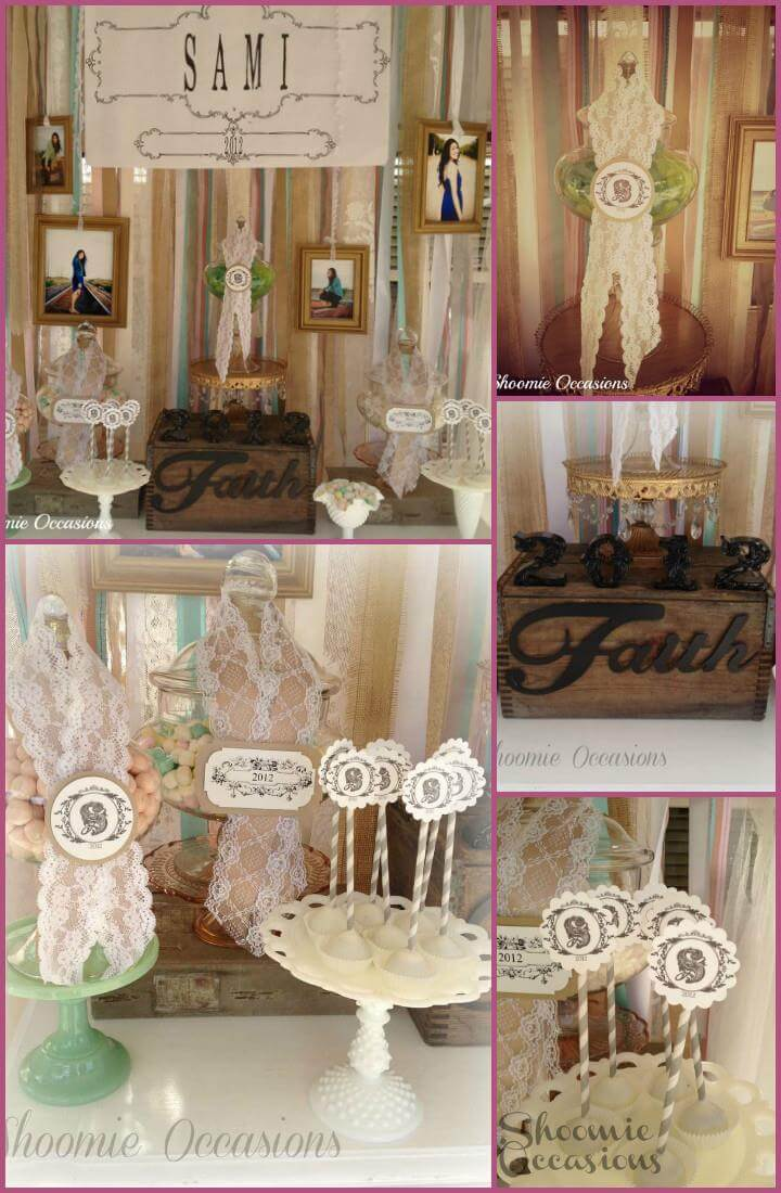 pretty vintage graduation party decor theme
